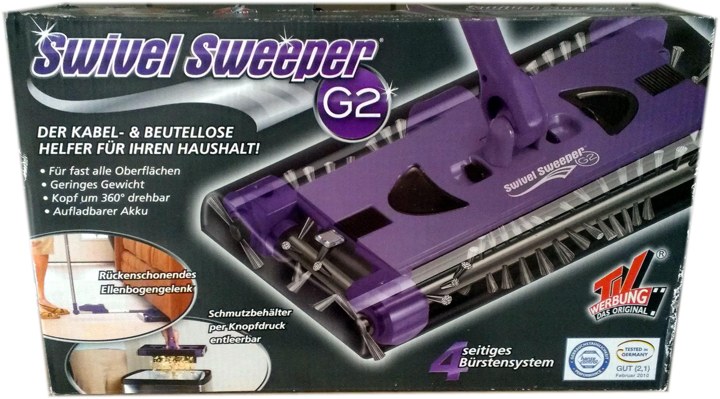 akku besen swivel sweeper g2 bekannt aus der tv werbung neu lila ebay. Black Bedroom Furniture Sets. Home Design Ideas