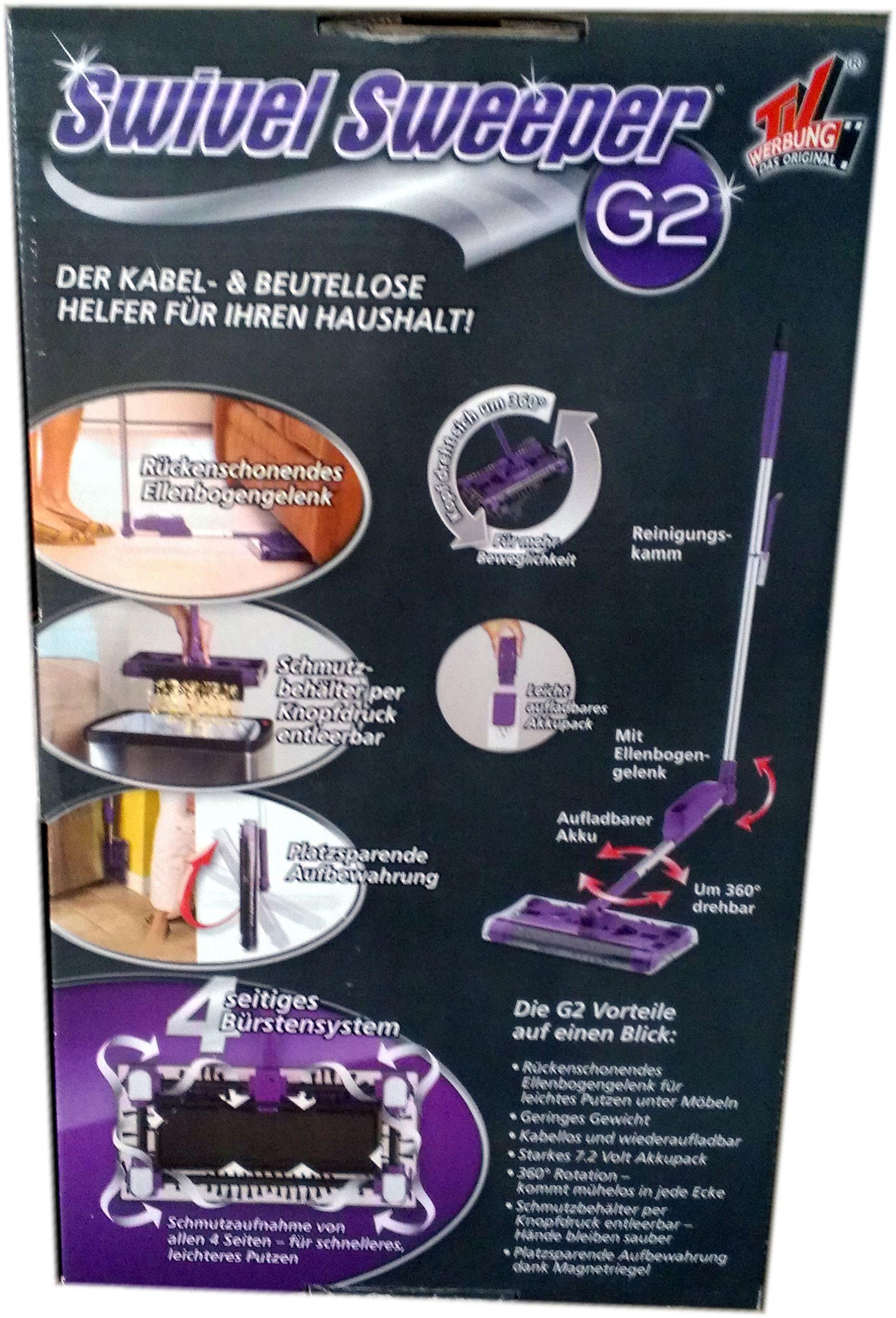 akku besen swivel sweeper g2 bekannt aus der tv werbung neu lila. Black Bedroom Furniture Sets. Home Design Ideas